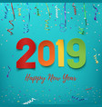 happy new year 2019 colorful paper abstract vector image vector image