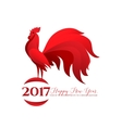 Happy New Year with red vector image