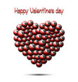 happy valentines day heart from billiard balls vector image