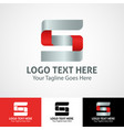 hi-tech trendy initial icon logo s vector image