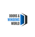 house door and window company letter d icon vector image