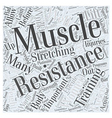 importance of resistance training for women Word vector image vector image