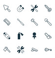instrument icons set collection of scoop vector image vector image