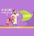 kids vaccination poster vector image