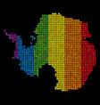 lgbt pixel antarctica map vector image vector image