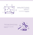 manufacturing defect and troubleshooting concept vector image vector image