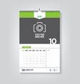 minimalist calendar template for october 2020 vector image vector image