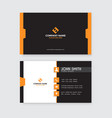 modern professional business card template yellow vector image vector image