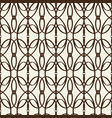monochrome decorative intricate trellis vector image vector image
