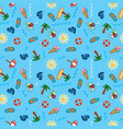 pattern beach holiday summer theme palm vector image vector image