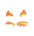 pizza graphic design template vector image