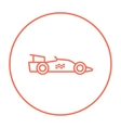 Race car line icon vector image vector image