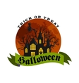 Set Of Happy Halloween Badges and Labels vector image vector image