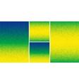 Set of pixel digital backgrounds - Brazil colors vector image