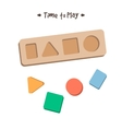 Shape sorter puzzle toy for children vector image