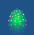 Single Illuminated Christmas Tree vector image vector image