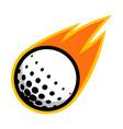 sport ball fire golf vector image vector image