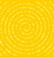stars in spiral composition yellow and orange vector image