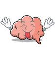 tongue out brain character cartoon mascot vector image vector image