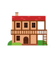 traditional old house with timber framing ancient vector image vector image