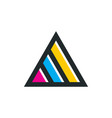 triangle line logo template vector image vector image