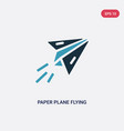 two color paper plane flying icon from user vector image vector image