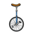 unicycle bicycle sketch engraving vector image