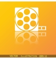 Video icon symbol Flat modern web design with vector image