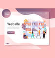 web services website landing page design vector image vector image