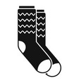 winter socks icon simple style vector image vector image