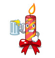 with juice christmas candle combined with pita vector image vector image