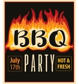 in the fire BBQ vector image