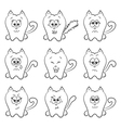 Cute cats emotions vector image