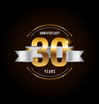 30 years anniversary celebration logotype golden vector image vector image