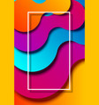 abstract colorful background with white frame vector image