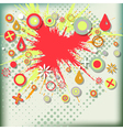 Abstract grunge background with explosion paint vector image