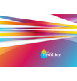 abstract vibrant stripes corporate background vector image vector image