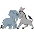 american politics - democratic donkey versus repub vector image