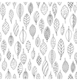 Autumn white and black seamless stylized leaf vector image vector image