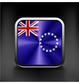 background of cook islands flag vector image vector image