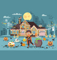 banner cartoon character child vector image vector image