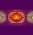 banner india diwali deepavali festival vector image vector image
