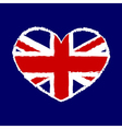 British flag t shirt graphics heart vector image vector image