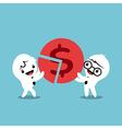 business team successful teamwork concept cartoon vector image