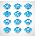 call center isometric icons vector image vector image