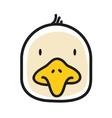 cartoon animal head icon chicken face avatar vector image vector image