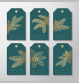 christmas and new year ready-to-use gift tags or vector image vector image