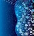 christmas cobalt vector image vector image