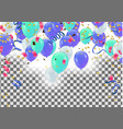 colorful balloons happy birthday holiday frame vector image vector image