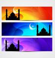 colorful eid headers vector image vector image